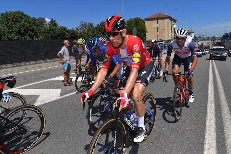 TURIN ITALY AUGUST 05 Michael Morkov of Denmark and Team Deceuninck QuickStep during the 101st Milano Torino 2020 a 198km race from Mesero to Stupinigi Turin MilanoTorino on August 05 2020 in Stupinigi Turin Italy Photo by Tim de WaeleGetty Images