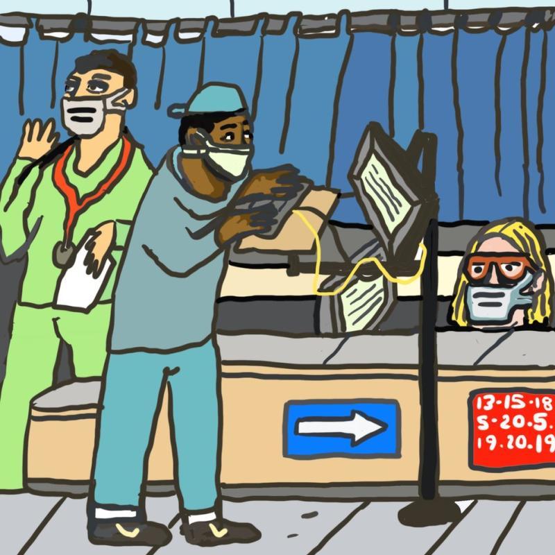 Gambar kunjungan rumah sakit