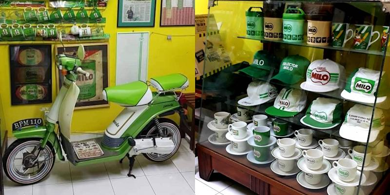 Yusof even has a Milo-themed scooter in his collection. — Picture courtesy of Mohd Yusof Ali
