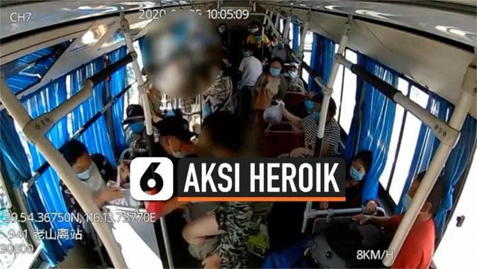 VIDEO: Aksi Heroik Sopir Bus Selamatkan Penumpang dari Pria Bersenjata