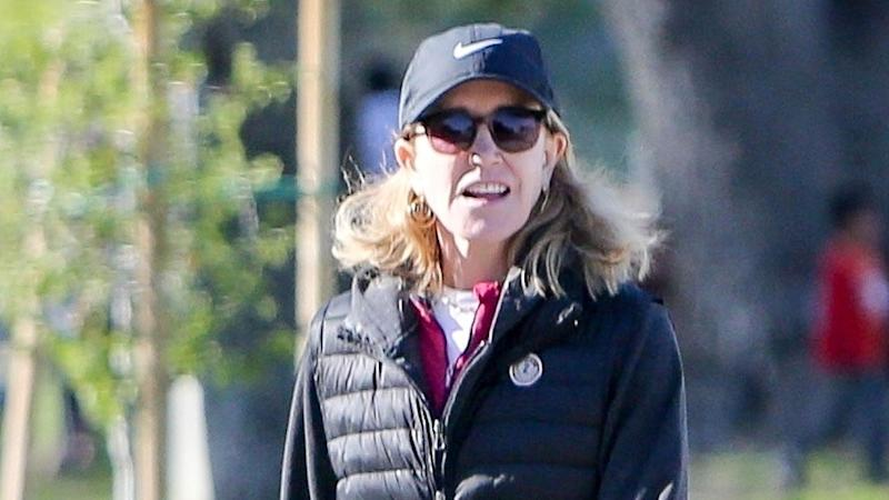 The 57-year-old actress has been doing her court-mandated community service in Los Angeles.