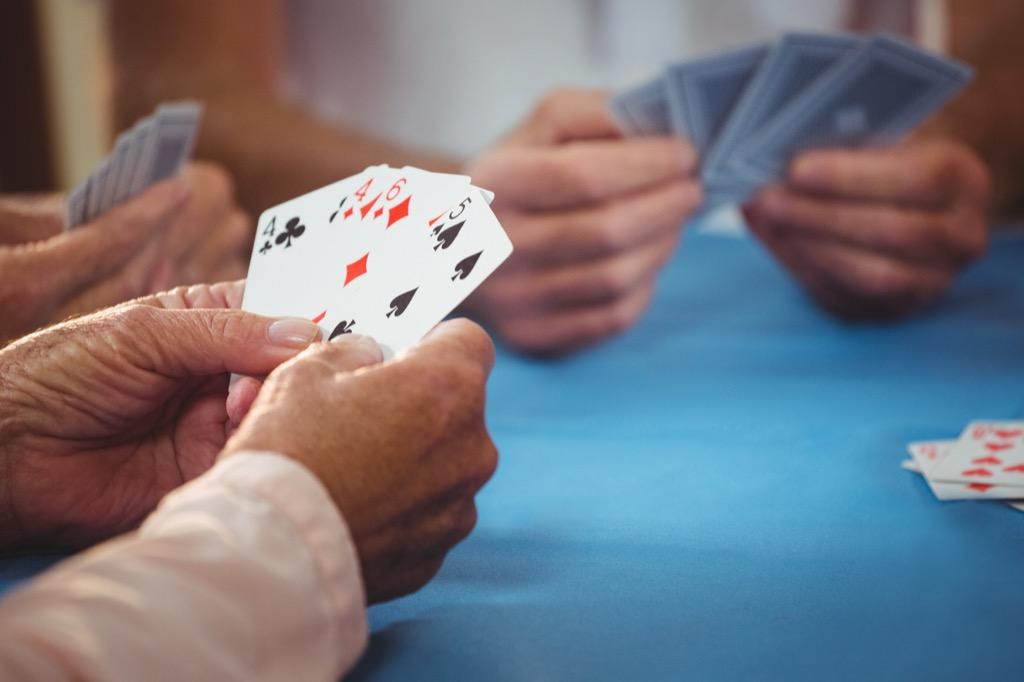 If someone is suddenly unable to play their favorite card game after years of doing so, that could be an early sign of Alzheimer's. Doing activities that involve multiple steps—like playing games—becomes increasingly hard for those with the disease.