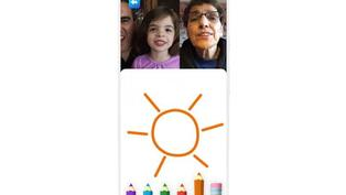 Google Duo 加入了讓小孩動手畫的家庭模式視訊通話