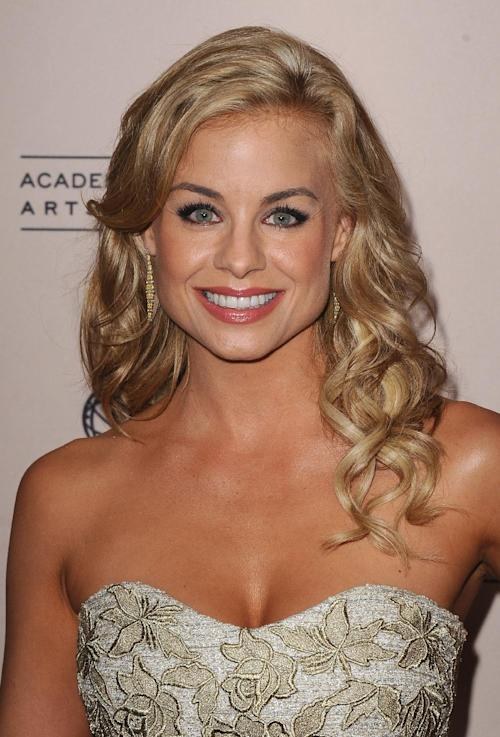 FILE - In this Thursday, June 13, 2013 photo, Jessica Collins arrives at the 40th Annual Daytime Emmy Awards nominee reception at the Montage Beverly Hills, in Beverly Hills, Calif. The 40th Annual Daytime Emmy Awards are on Sunday, June 16, 2013, in Beverly Hills, Calif. (Photo by Scott Kirkland/Invision/AP, File)