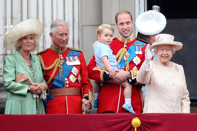 attend the Trooping The Colour ceremony on June 13, 2015 in London, England. The ceremony is Queen Elizabeth II's annual birthday parade and dates back to the time of Charles II in the 17th Century, when the Colours of a regiment were used as a rallying point in battle.