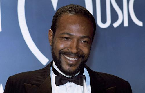 "FILE - In this Jan. 17, 1983 file photo, Singer-songwriter Marvin Gaye is seen at the American Music Awards in Los Angeles. Singer John Legend is joining the Kennedy Center in Washington to start a program in honor of the late Marvin Gaye encouraging young artists to engage in social issues. The project announced Tuesday echoes Gaye's lyrics and asks young people to consider ""What's Going On ... Now?"" They can upload videos, photos, poems, music or any recordings of creative expression to the project's website to answer that question. (AP Photo/Doug Pizac)"