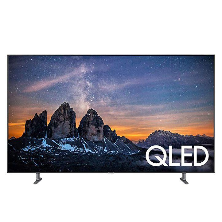 """<p><strong>Samsung</strong></p><p>amazon.com</p><p><strong>$1599.95</strong></p><p><a href=""""https://www.amazon.com/dp/B07N4M3Q5Y?tag=syn-yahoo-20&ascsubtag=%5Bartid%7C10055.g.32066100%5Bsrc%7Cyahoo-us"""" target=""""_blank"""">Shop Now</a></p><p>For a TV that looks like a      piece of art, Samsung has the best TV designs on the market. Not only      will they look great on display, but they also have high-quality images.      Samsung is known for their <strong>QLED TVs that have good upscaling technology</strong>, making lower resolution content look like native 4K images. Samsung offers      regular updates to their high-end technology, keeping everything running smoothly      on an ongoing basis. If you have other Samsung smart home products, their      TVs can easily integrate with these products for a seamless experience. Samsung      Smart TVs have apps in a row on the bottom of the Smart Hub for easy      access to all the popular streaming apps. This style has the option to purchase <a href=""""https://www.amazon.com/gp/product/B07SGYTDKT/?tag=syn-yahoo-20&ascsubtag=%5Bartid%7C10055.g.32066100%5Bsrc%7Cyahoo-us"""" target=""""_blank"""">with a sound bar</a> for the ultimate audio experience. </p>"""