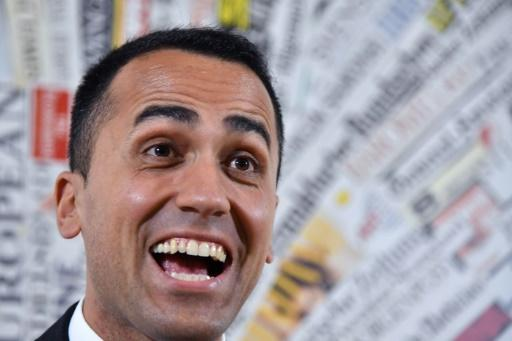Luigi Di Maio, leader of the Five Star Movement (M5S), meets the press shortly after elections in March made M5S the single largest party in parliament