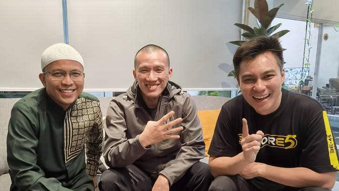 Baim Wong bersama Ustaz Felix Siauw (Instagram/baimwong)