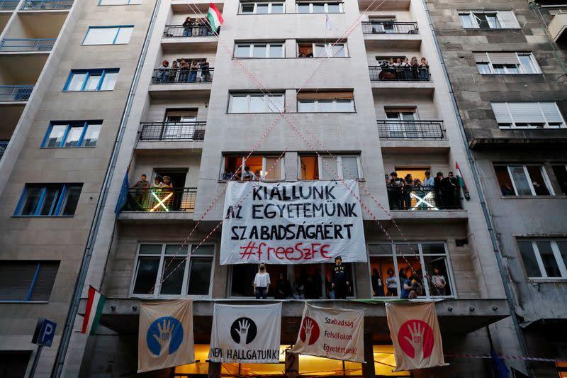 Hungarian protestors demand academic freedom for top arts university