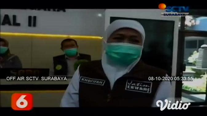 VIDEO: Khofifah Pantau Pelaksanaan Tes CPNS di Kanreg II BKN