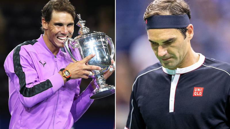 Rafael Nadal and Roger Federer, pictured here at the US Open.