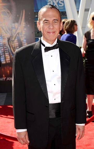 Gilbert Gottfried arrives at the 2013 Primetime Creative Arts Emmy Awards, on Sunday, September 15, 2013 at Nokia Theatre L.A. Live, in Los Angeles, Calif. (Photo by Scott Kirkland/Invision for Academy of Television Arts & Sciences/AP Images)
