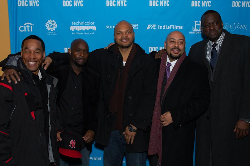 Left to right: Korey Wise, Antron McCray, Kevin Richardson, Raymond Santana and Yusef Salaam taken Nov 15, 2012