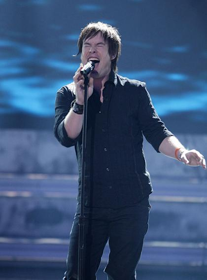 David Cook performs as one of the top 10 on the 7th season of American Idol.
