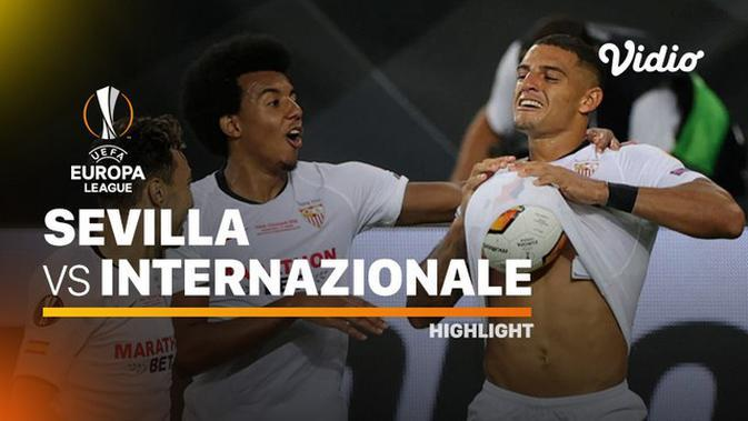 VIDEO: Highlights Final Liga Europa, Inter Milan Gagal Juara Usai Dikalahkan Sevilla 2-3