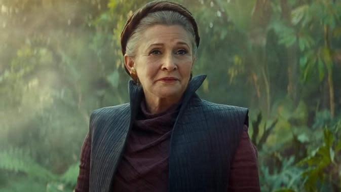 Carrie Fisher dalam Star Wars: The Rise of Skywalker. (Foto: Dok. IMDb/ Walt Disney)