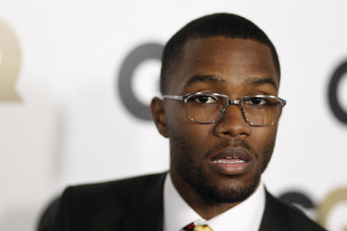 "FILE - This Nov. 17, 2011 file photo shows musician Frank Ocean at the 16th annual GQ ""Men of the Year"" party in Los Angeles. The mtvU network is honoring Ocean, who detailed his love for another man, as its Man of the Year. Frank Ocean, who earned six Grammy nominations Wednesday, published a letter online about his first love, a man, just as his ""channel ORANGE"" disc was being released. MtvU on Thursday, Dec. 6, 2012, called it ""an incredibly brave move for an artist on the verge of superstardom."" (AP Photo/Matt Sayles, file)"