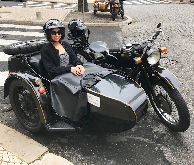 A great way to see the city is via a vintage moto side car tour. Photo: Yahoo Lifestyle