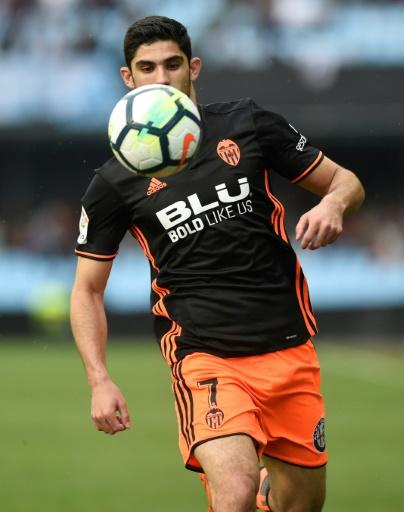 Portugal's Goncalo Guedes in action for Valencia