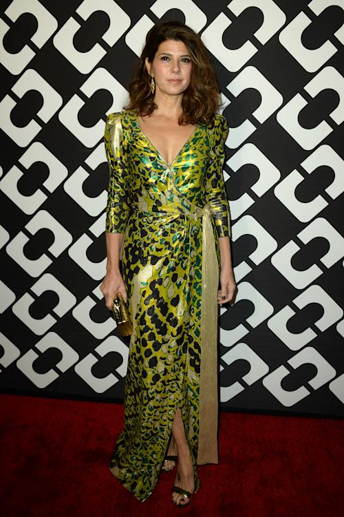 Marisa Tomei attends the DVF Journey of a Dress 40th Anniversary Party at Wilshire May Company Building on Jan. 10, 2014 in Los Angeles.(Photo by Jordan Strauss/Invision/AP)
