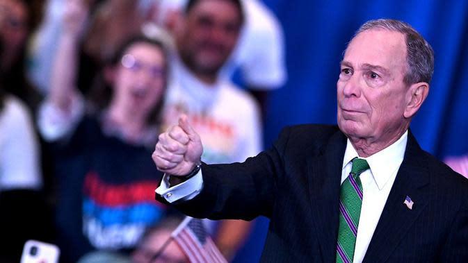 Michael Bloomberg di New York (4/3/2020). (AFP/Johannes Eisele)