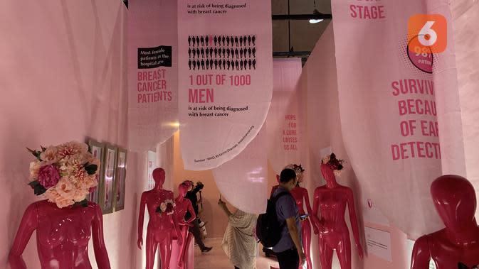 Pink tunnel di Pink Pop-up Market. (dok. Liputan6.com/Novi Thedora)