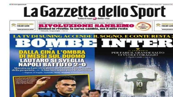 Media Italia pamerkan bayangan Messi di Katedral Duomo
