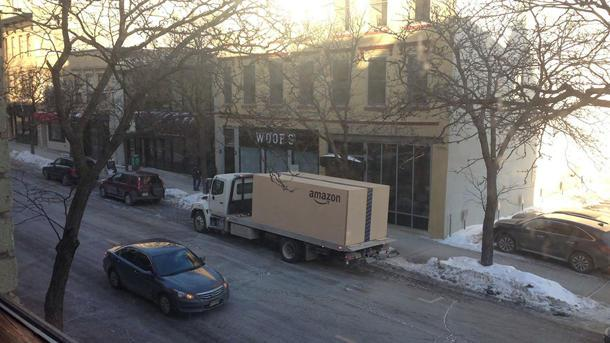 Amazon delivers its biggest box — with a Nissan inside