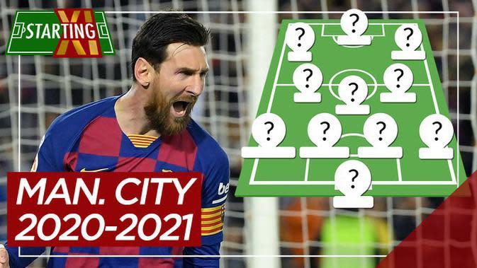 MOTION GRAFIS: Jika Lionel Messi dan Kalidou Koulibaly Bergabung, Beginikah Starting XI Manchester City Musim Depan?