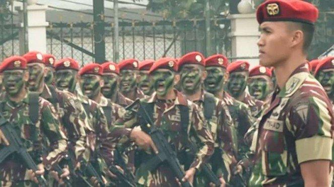 VIVA Militer: Apel Pasukan Kopassus (ilustrasi).