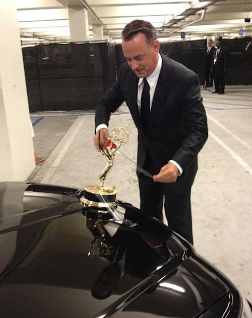 Behind-the-scenes moments of the Emmys