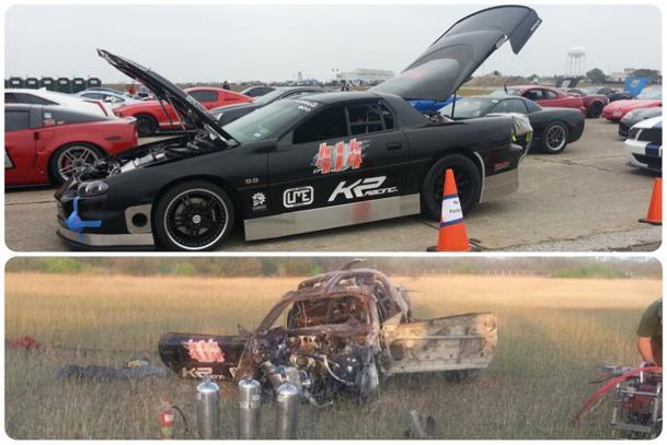 2,800-hp Camaro wrecked at 220 mph during Texas Mile speed run