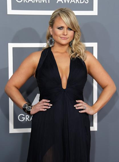 If country musician Miranda Lambert's deep V could go any lower, it probably would.