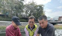 解決居民困擾 議員呂維胤於竹溪放置保育生態小魚