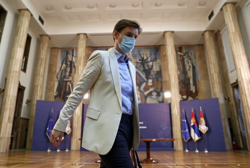 Serbia's president nominates PM Ana Brnabic to stay on for second term
