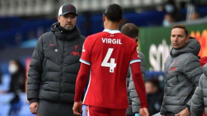 Manajer Liverpool, Juergen Klopp, dan Virgil van Dijk