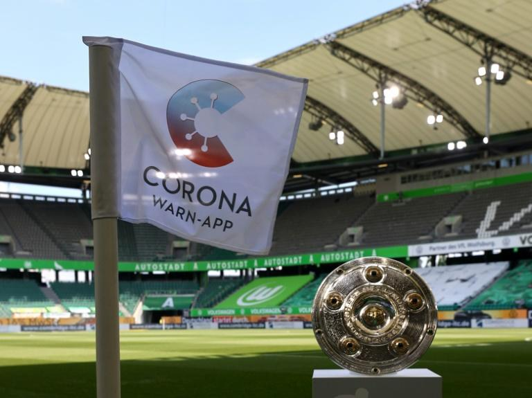 The Bundesliga Meisterschale awaits Bayern Munich ahead of their final game of the season at Wolfsburg