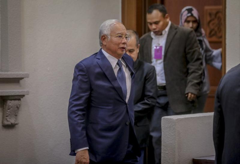 Datuk Seri Najib Razak is pictured at the Kuala Lumpur High Court June 12, 2019. — Picture by Firdaus Latif