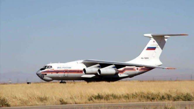 VIVA Militer : Pesawat Rusia yang membawa pasukan milisi Suriah ke Libya