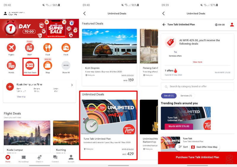 AirAsia.com Tune Talk Unlimited Plan Deal. — SoyaCincau pic