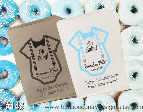 Candy Bags Popcorn Bags Baby Shower Favor Bags
