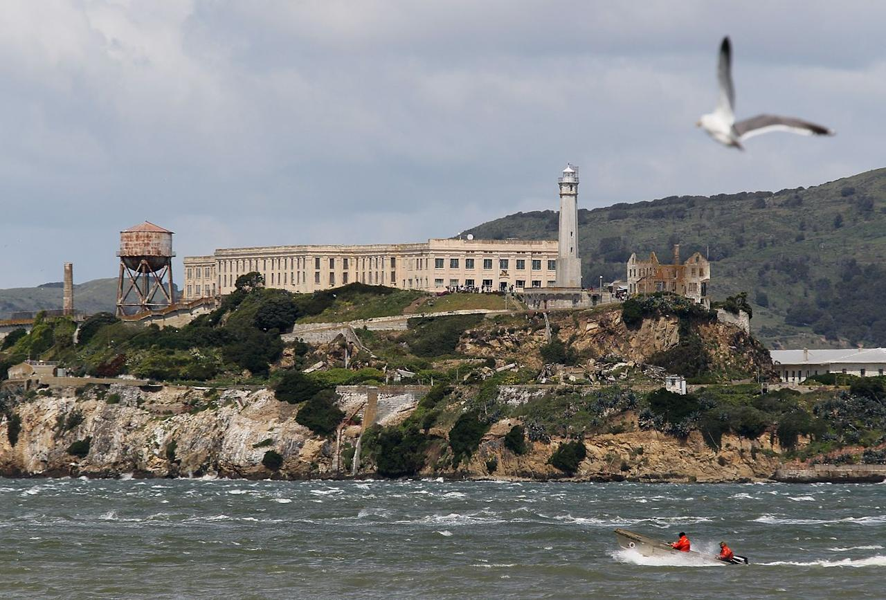 "<p>Perhaps most famous for the maximum-security prison it housed from 1934-1963, Alcatraz Island also boasts the West Coast's<a href=""https://www.history.com/news/10-things-you-may-not-know-about-alcatraz"" target=""_blank""> first lighthouse</a>, built in 1854 to help ships navigate the notoriously foggy <a href=""https://www.countryliving.com/life/a35408/east-bay-california-cowboy-culture/"" target=""_blank"">San Francisco</a> Bay. The bay, of course, helped make Alcatraz impossible to break free from. Despite what you might think from the movies, there were no confirmed prisoner escapes from the island, which became a National Historic Landmark in 1986.</p>"