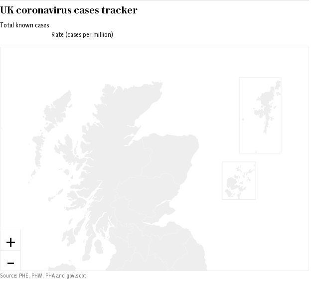 Coronavirus UK Local Authority Map - Live Data