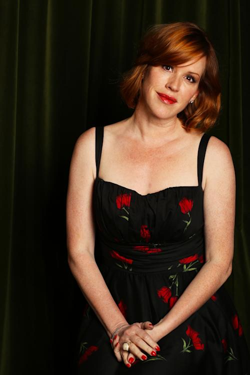 """This April 9, 2013 photo shows actress-singer Molly Ringwald posing in Los Angeles. Ringwald's latest CD """"Except Sometimes,"""" was released earlier this month. (Photo by Alexandra Wyman/Invision/AP)"""