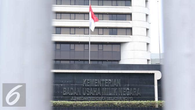 Gedung Kementrian BUMN. (Liputan6.com/Angga Yuniar)