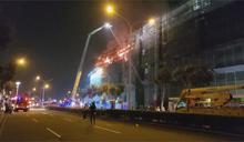 烏日高鐵重劃區建案火警 F2棟六樓全面燃燒