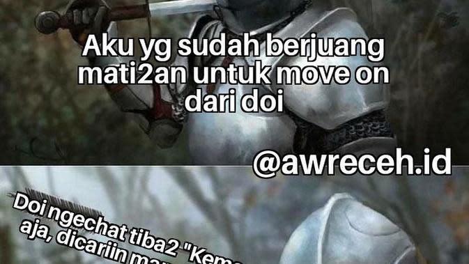 Meme susah move on (Sumber: awreceh.id)