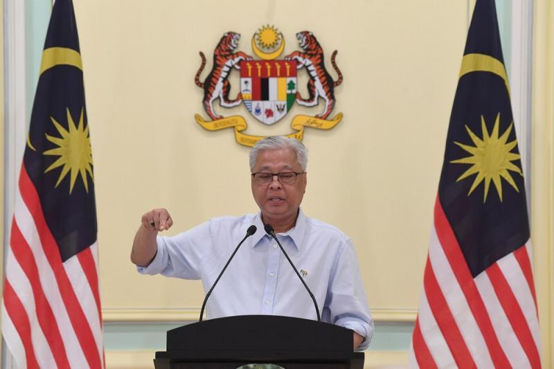 Senior Minister Datuk Seri Ismail Sabri Yaakob during a press conference at the Perdana Putra building in Kuala Lumpur October 3, 2020. — Bernama pic