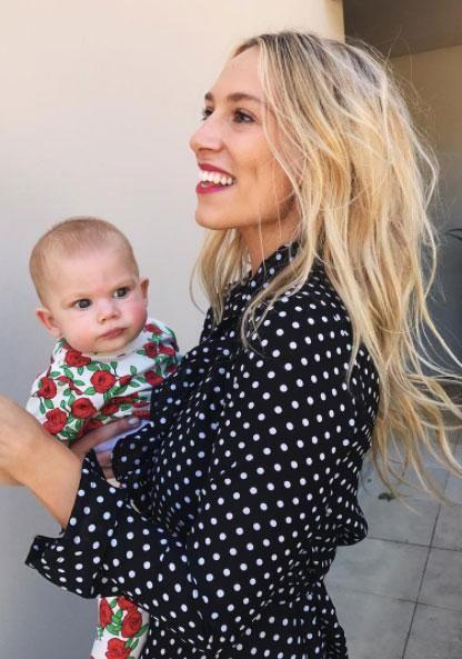 Phoebe welcomed daughter Poppy Alice in January this year. Source: Instagram